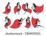 comic superwoman actions in... | Shutterstock .eps vector #780909001