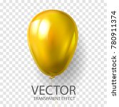 realistic 3d yellow gold ... | Shutterstock .eps vector #780911374