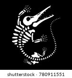 paleontology of fossils   Shutterstock .eps vector #780911551