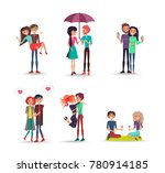cheerful six pair of lovers on... | Shutterstock .eps vector #780914185