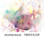 watercolor splash background.... | Shutterstock . vector #780915139
