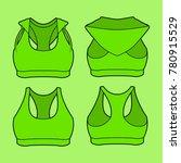 women sportswear bra padded... | Shutterstock .eps vector #780915529