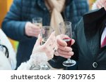 a bride  a groom and toast at a ... | Shutterstock . vector #780919765