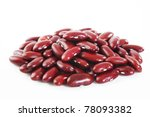 Kidney Beans On White Background