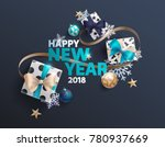 happy new year greeting card... | Shutterstock .eps vector #780937669