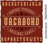 """Original Label Typeface Called """"..."""