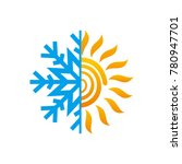 hot and cold symbol. sun and... | Shutterstock .eps vector #780947701