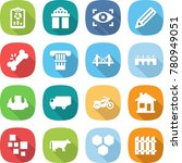 flat vector icon set   report... | Shutterstock .eps vector #780949051