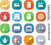 flat vector icon set   bath... | Shutterstock .eps vector #780950881