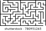 labyrinth of low complexity.... | Shutterstock .eps vector #780951265