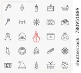 set of vector thin line icons... | Shutterstock .eps vector #780951889