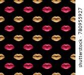 Woman Lips Background. Beauty...