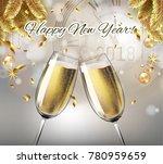 vector happy new year with...   Shutterstock .eps vector #780959659