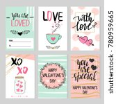 set of abstract valentine's day ... | Shutterstock .eps vector #780959665
