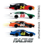 race cars   Shutterstock .eps vector #78096061