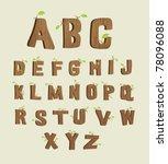 wood font   Shutterstock .eps vector #78096088