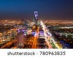 riyadh skyline at night  3 ... | Shutterstock . vector #780963835