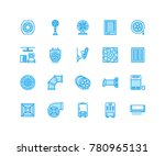 ventilation equipment flat line ... | Shutterstock .eps vector #780965131