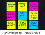 new year goals or resolutions   ... | Shutterstock . vector #780967015