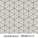 vector seamless lines pattern.... | Shutterstock .eps vector #780967171