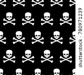 seamless pattern with skull and ... | Shutterstock . vector #780971239