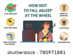 set of tips to stay awake while ... | Shutterstock . vector #780971881