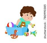 illustration of smiling kid boy ...   Shutterstock .eps vector #780990385