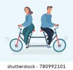 vector cartoon illustration of... | Shutterstock .eps vector #780992101