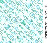 garbage seamless pattern with... | Shutterstock .eps vector #780993241