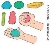 vector set of clay for kid | Shutterstock .eps vector #780998779