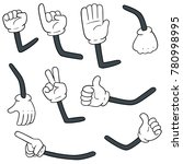 vector set of cartoon arms | Shutterstock .eps vector #780998995