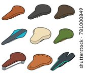vector set of bicycle saddles | Shutterstock .eps vector #781000849