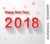 happy new year 2018  vector...   Shutterstock .eps vector #781005499
