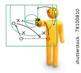 stick figure coach basketball... | Shutterstock . vector #78100810