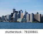 High Rise Buildings at Toronto Waterfront  in Canada - stock photo
