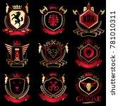 classy heraldic coat of arms....   Shutterstock . vector #781010311