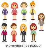 cartoon pretty office woman... | Shutterstock .eps vector #78102370