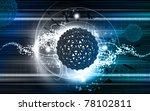 digital illustration of gene in ... | Shutterstock . vector #78102811