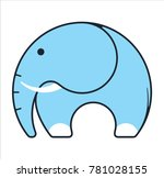 logo elephant and trunk | Shutterstock .eps vector #781028155
