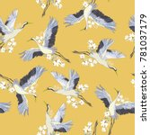 japanese seamless pattern of... | Shutterstock .eps vector #781037179