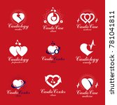 heart shapes composed using... | Shutterstock . vector #781041811