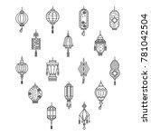 vector set of asian street and...   Shutterstock .eps vector #781042504