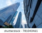 the skyscrapers in guangzhou... | Shutterstock . vector #781043461