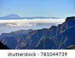 beautiful gran canaria mountain ... | Shutterstock . vector #781044739