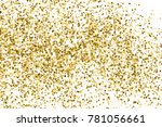 gold glitter texture isolated... | Shutterstock .eps vector #781056661