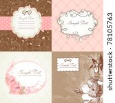 set of cute floral frames | Shutterstock .eps vector #78105763