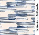 indigo vector tie dye seamless... | Shutterstock .eps vector #781064494