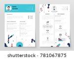 personal cv  set of modern...   Shutterstock .eps vector #781067875