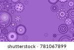 Vector Pattern With Cogs  Bolt...