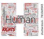 vector conceptual human rights... | Shutterstock .eps vector #781069045